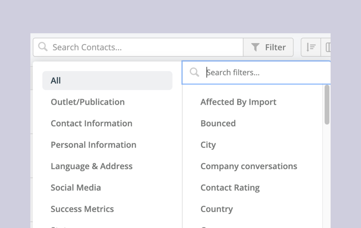 Help: Using filters when adding contacts to Campaigns