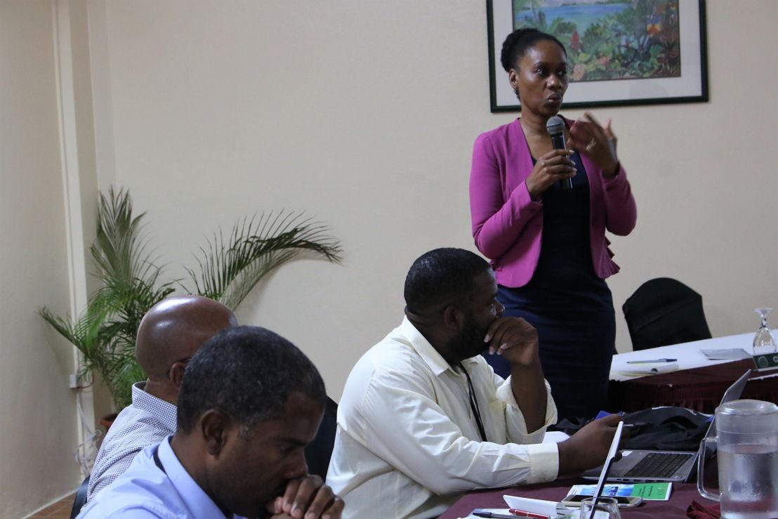 Judith Ephraim, Programme Coordinator, OECS Sustainable Energy Unit, addresses the gathering.