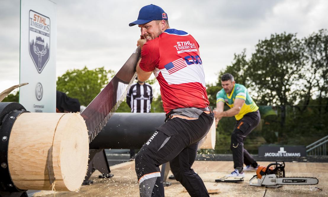 Koning Cogar hakt concurrentie in mootjes en wint STIHL TIMBERSPORTS® 2019 Champions Trophy