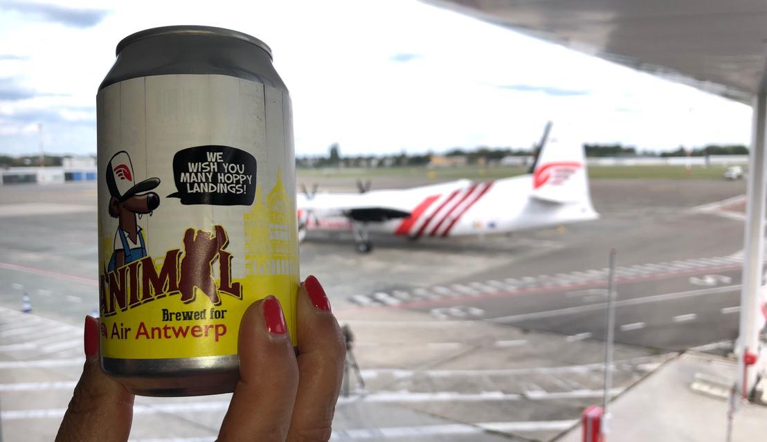 Vrijstaat Vanmol brouwde ambachtelijk bier in blik naar aanleiding van de eerste lijnvluchten van Air Antwerp