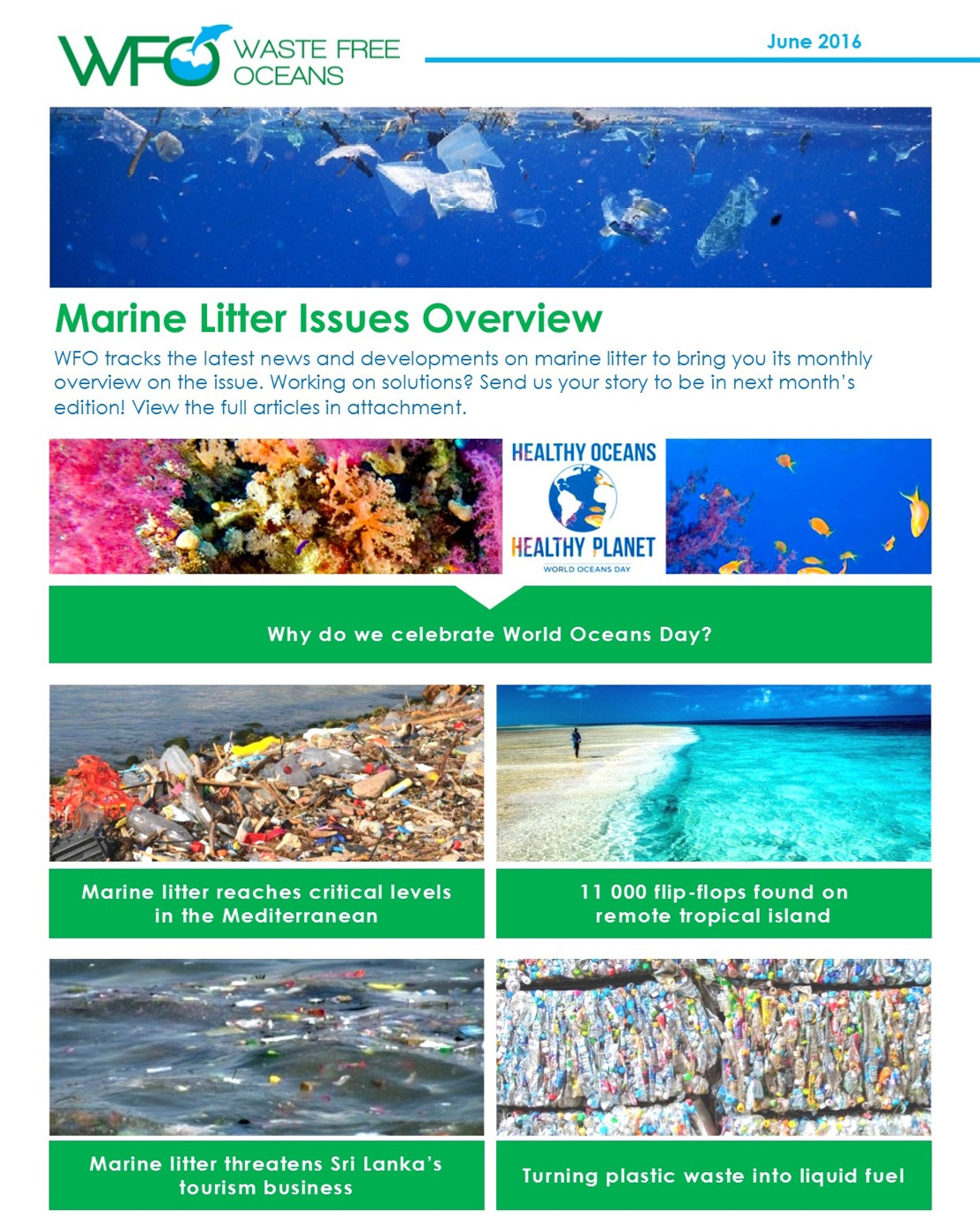 WFO Marine Litter Issues Overview - June 2016