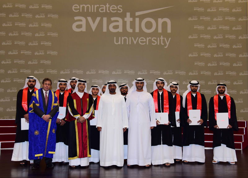 The graduating class of 2016 included 10 UAE National students who received an advanced Diploma in Aviation Maintenance Engineering.
