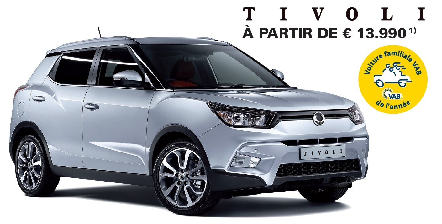 ssangyong tivoli voiture familiale vab de l ann e 2016. Black Bedroom Furniture Sets. Home Design Ideas