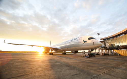 Cathay Pacific's first Airbus A350-1000 arrives at Hong Kong