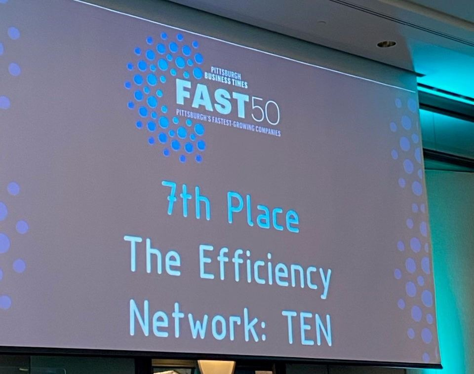 The Efficiency Network (TEN) placed 7th overall as one of Pittsburgh Business Times