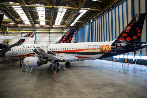 Brussels Airlines flies the Red Devils to Zagreb