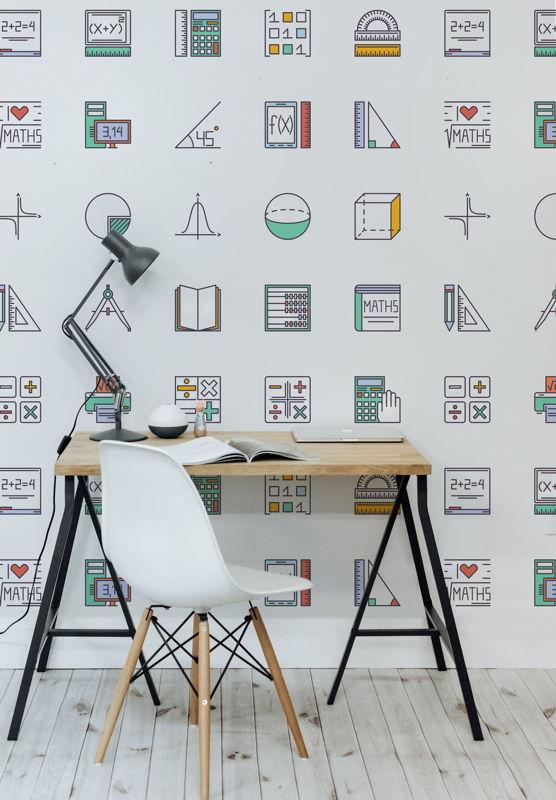 Maths - Pattern Wallpaper Mural