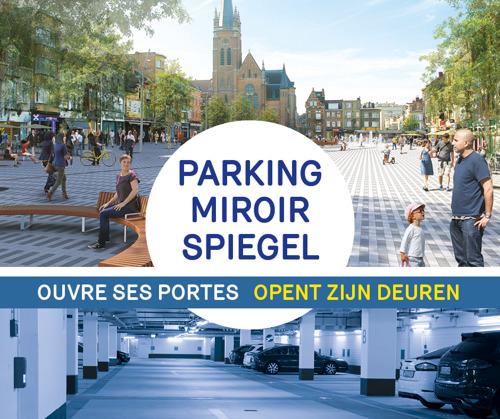 ANNULATIE persmoment: inhuldiging ondergrondse parking Spiegelplein Jette