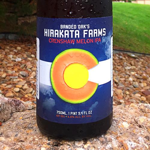 Rocky Ford's Hirakata Farms celebrates the end of the 2018 season with release of Banded Oak's Hirakata Farms Crenshaw Melon IPA
