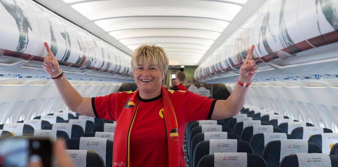 750 supporters belges s'envolent vers Lyon avec les fan flights de Brussels Airlines
