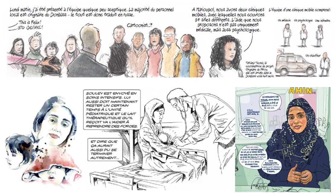 Vernissage de l'exposition « MSF en BD » au festival Monde de Couleurs