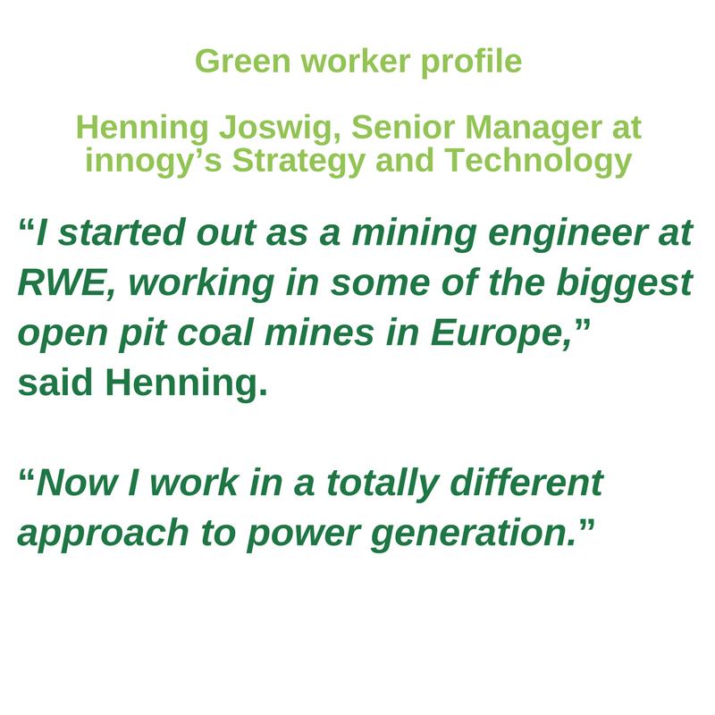 Green worker profile -<br/> Henning Joswig