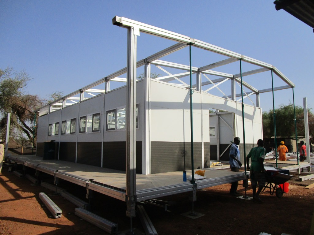 A module of the new MSF structure before the roof is installed. © Carlos Cortez Henriquez/MSF