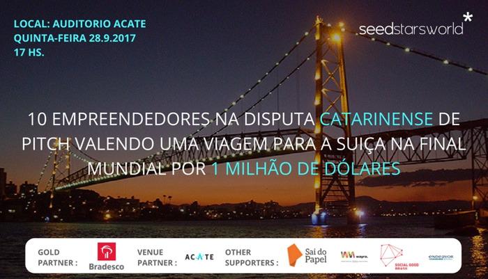 Seedstars anuncia as 10 startups que irão competir na semifinal do Florianópolis, no dia 28/09/2017