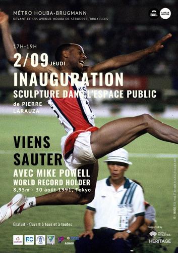 SAVE THE DATE 2/9  Inauguration à Laeken d'une sculpture au croisement de l'art et du sport