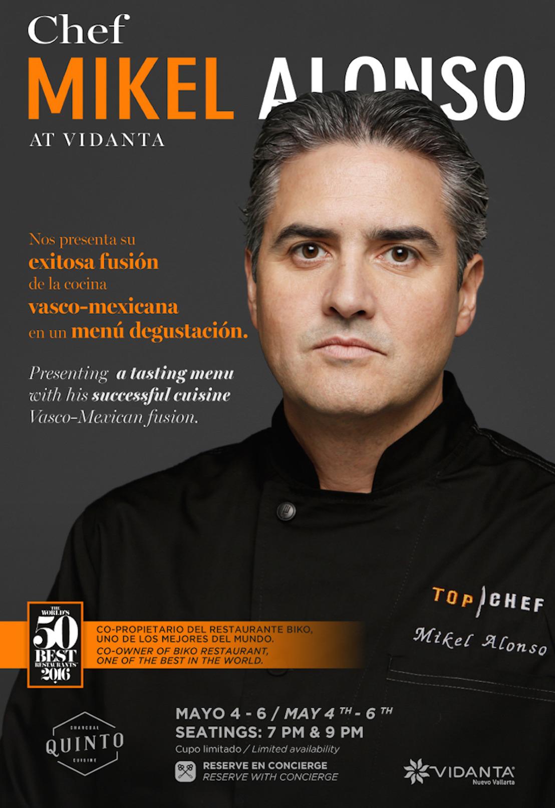 La sofisticada oferta gastronómica de Grupo Vidanta se une a la experiencia internacional de Mikel Alonso