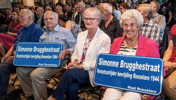 De familie van Simonne Brugghe ijverde jarenlang voor erkenning van hun heldin. © Joke Couvreur