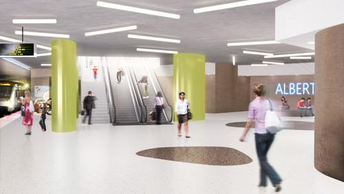 Het station Albert maakt zich op als toekomstig eindpunt van Metro 3