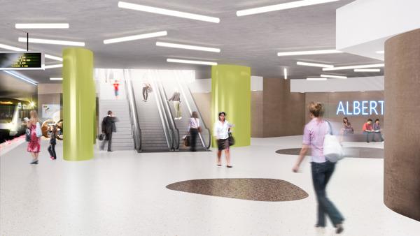 Preview: Het station Albert maakt zich op als toekomstig eindpunt van Metro 3