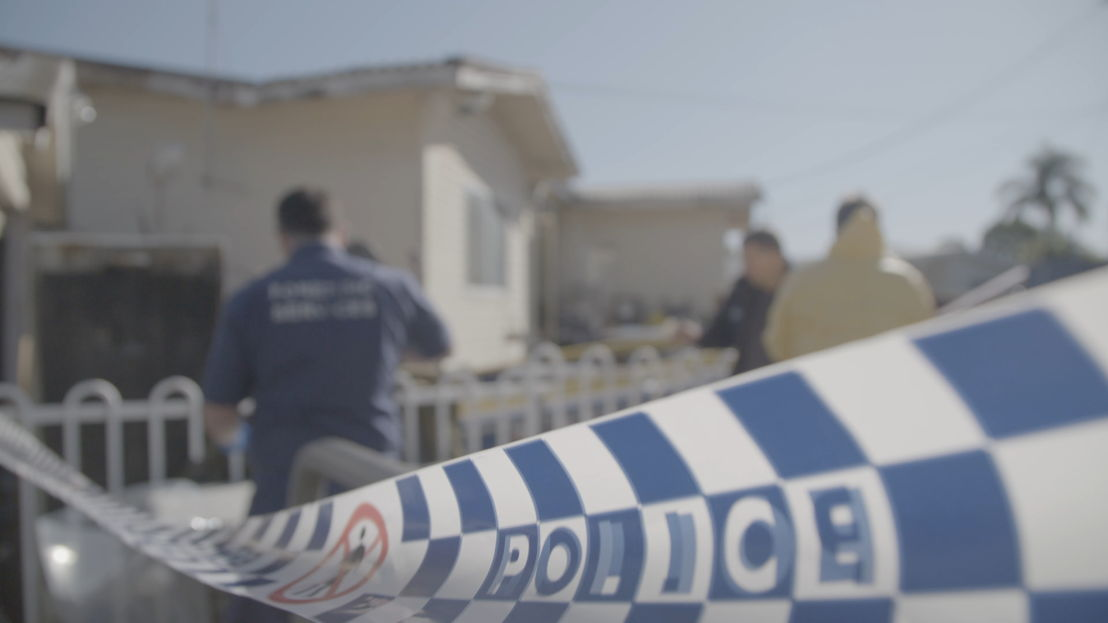 police tape at an ice raid