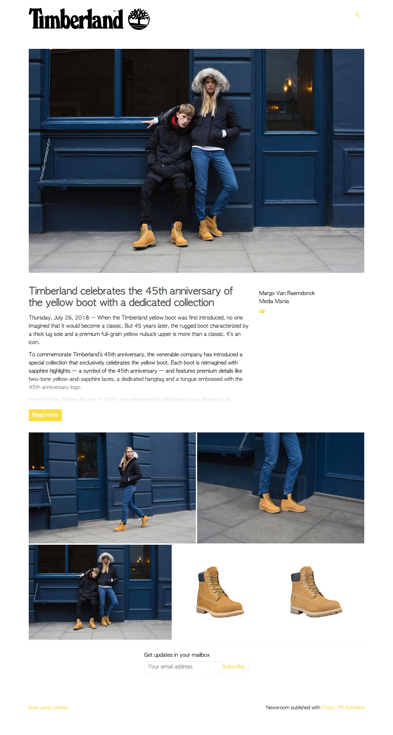 Product Anniversary Press Release Example Timberland