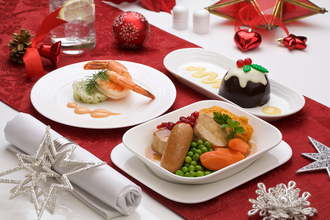 Emirates Business Class Festive Menu