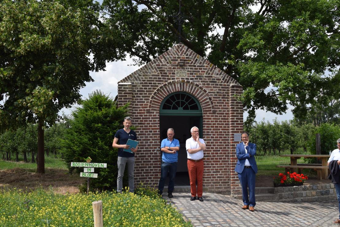 Restauratie Sint-Odulphuskapel in Booienhoven en vergroening omgeving voltooid