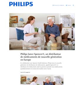 Philips lance Spencer®, un distributeur de médicaments de nouvelle génération en Europe