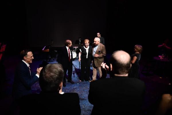 Graham Martin (l) and Peg (c) and Bill Balzer (r), Honorees