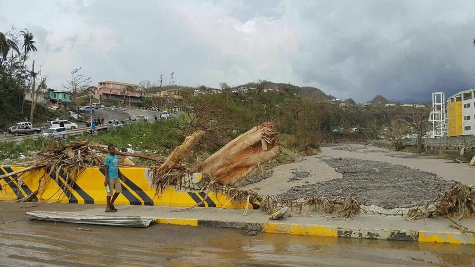 Situation in Dominica after the path of hurricane Maria.