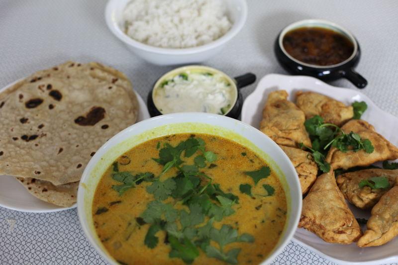 Scott Morrison prepares a Sri Lankan fish curry, chapattis and samosas
