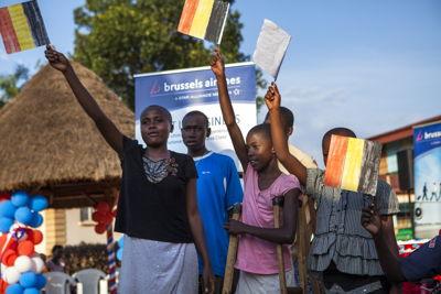 Handing over fundraising to Corsu Hospital (Kampala)