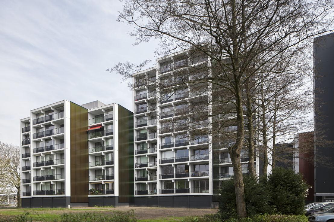 Project Weezenhof in Nijmegen. Gerenoveerd met systemen van Reynaers die zijn voorzien van het DuboKeur.<br/>Fotografie: Hennie Raaijmakers