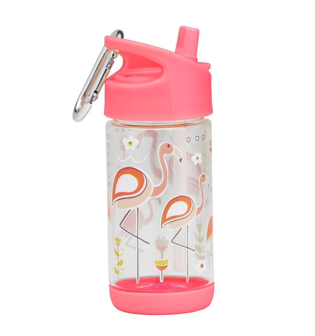 SugarBooger handige flip & sip tritan drinkfles Flamingo - €15,95