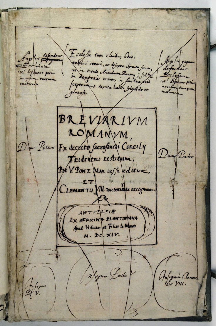 Balthasar I Moretus, Schets van de titelpagina van het Breviarum Romanum....jpg