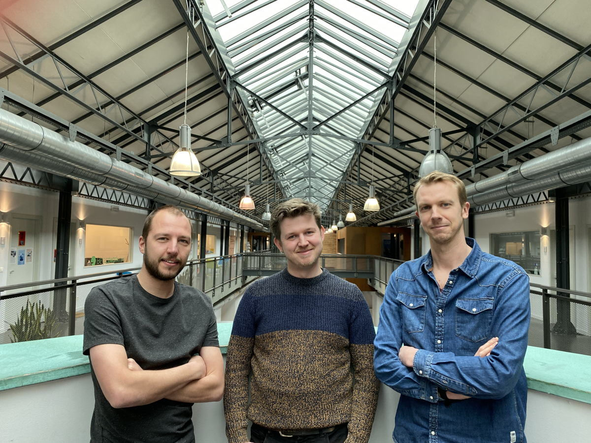Vlnr: Jesse Huybrechts, Mattias Goossens, Corneel Haine