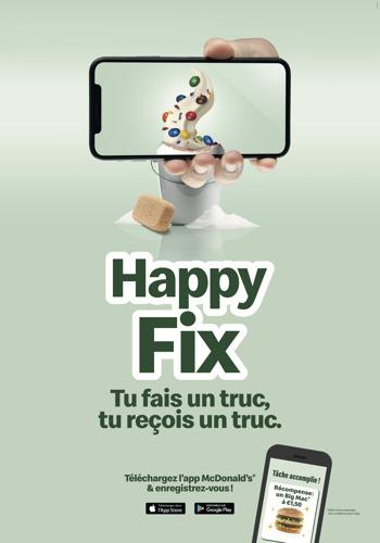 Preview: Happy Fix, un McDo en échange d'une tâche !