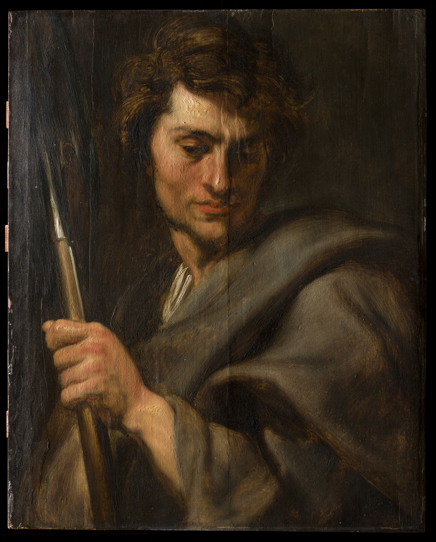 Image name: 22_Anthony van Dyck, Saint Matthew, before restoration, Rubens House, permanent loan by the King Baudouin Foundation, photo KIK IRPA Brussels.jpg