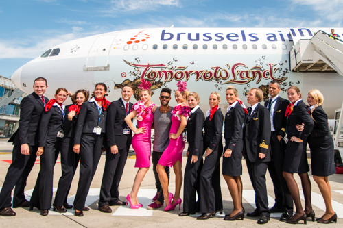 Brussels Airlines party flights bring 15,000 people to Tomorrowland for 10th anniversary