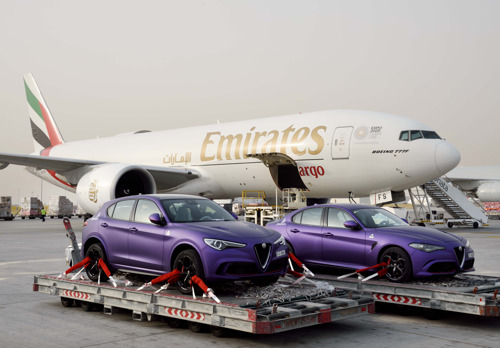 Emirates SkyCargo partners with Gargash to transport Alfa Romeos for celebrity motor rally