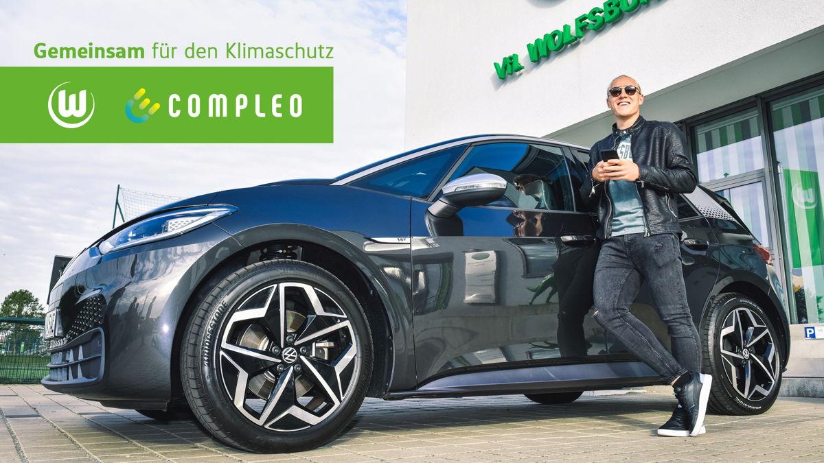 Xaver Schlager vom VfL Wolfsburg und Compleo gehen ab sofort gemeinsame Wege  Bildquelle: VfL Wolfsburg