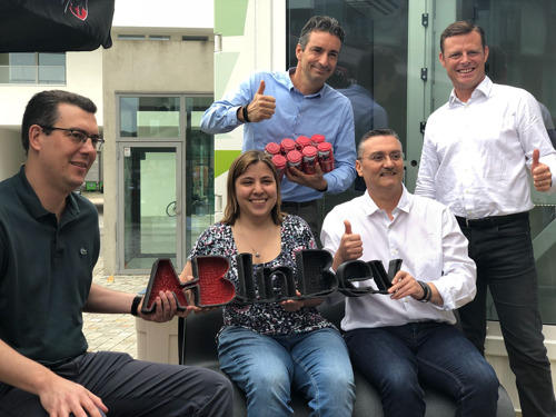 AB InBev 3D-prints trendy benches using 500 kg of recycled PET cups