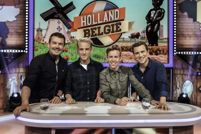 Niels Destadsbader verdedigt met tal van bekende Vlamingen de eer van ons land in 'Holland - België'