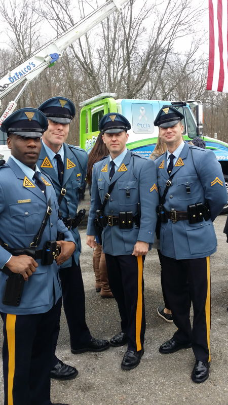 Local police officers turned out to honor Bill Rempfer, Sr., a former special police office with the Florham Park Police.