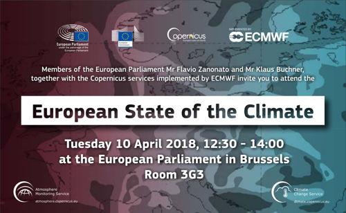 Preview: Copernicus présente le résumé de l'état du climat en Europe devant le Parlement européen