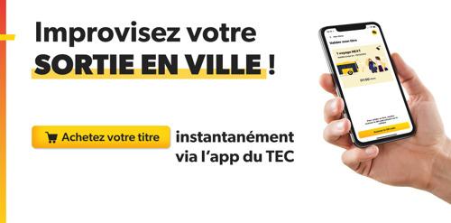 Achetez et validez vos titres instantanément avec la nouvelle version de l'app TEC !