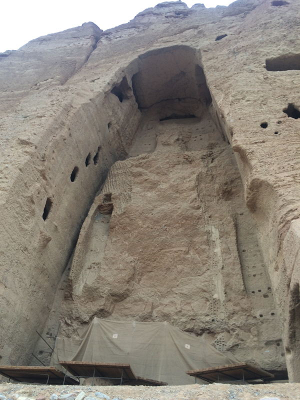 Giant Buddha site, after the Taliban destruction