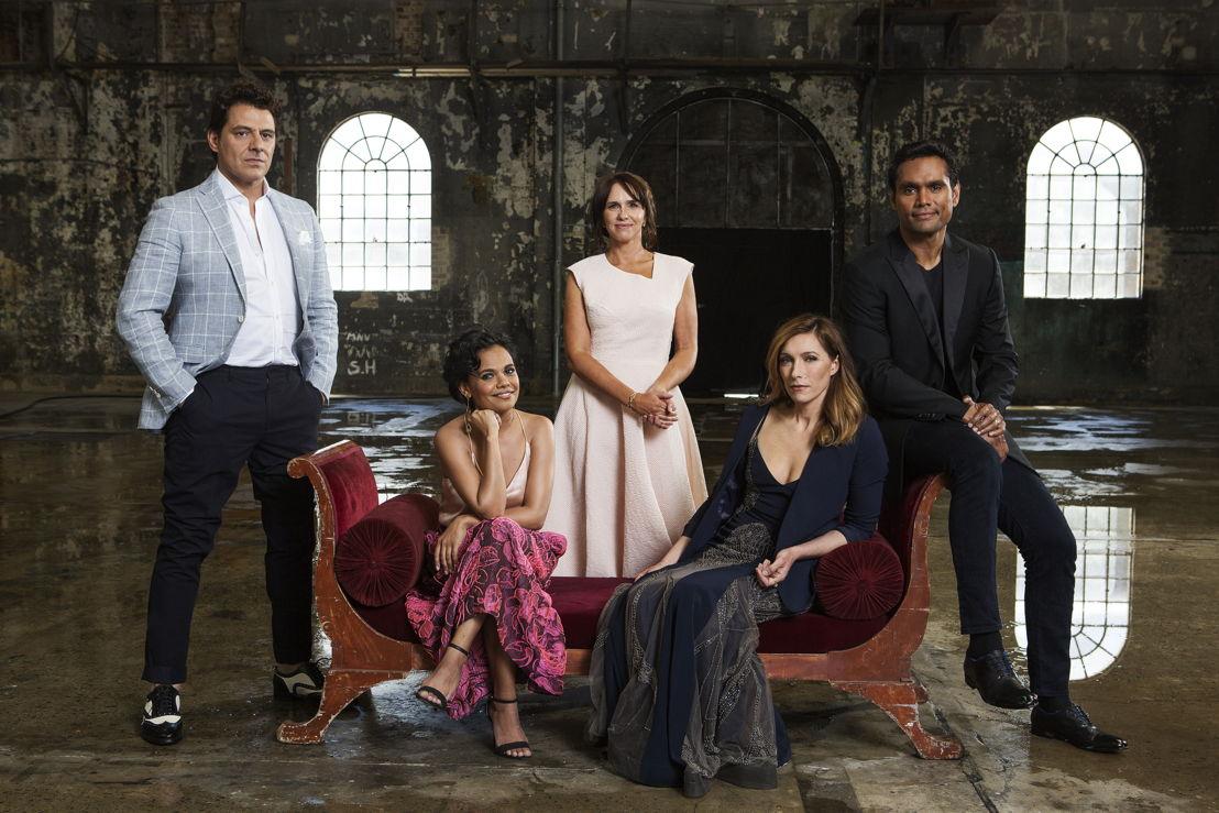Vince Colosimo, Miranda Tapsell, Tasma Walton, Claudia Karvan and Rob Collins star in ABC TV dramas during 2017 (photo credit: Lisa Tomasetti)