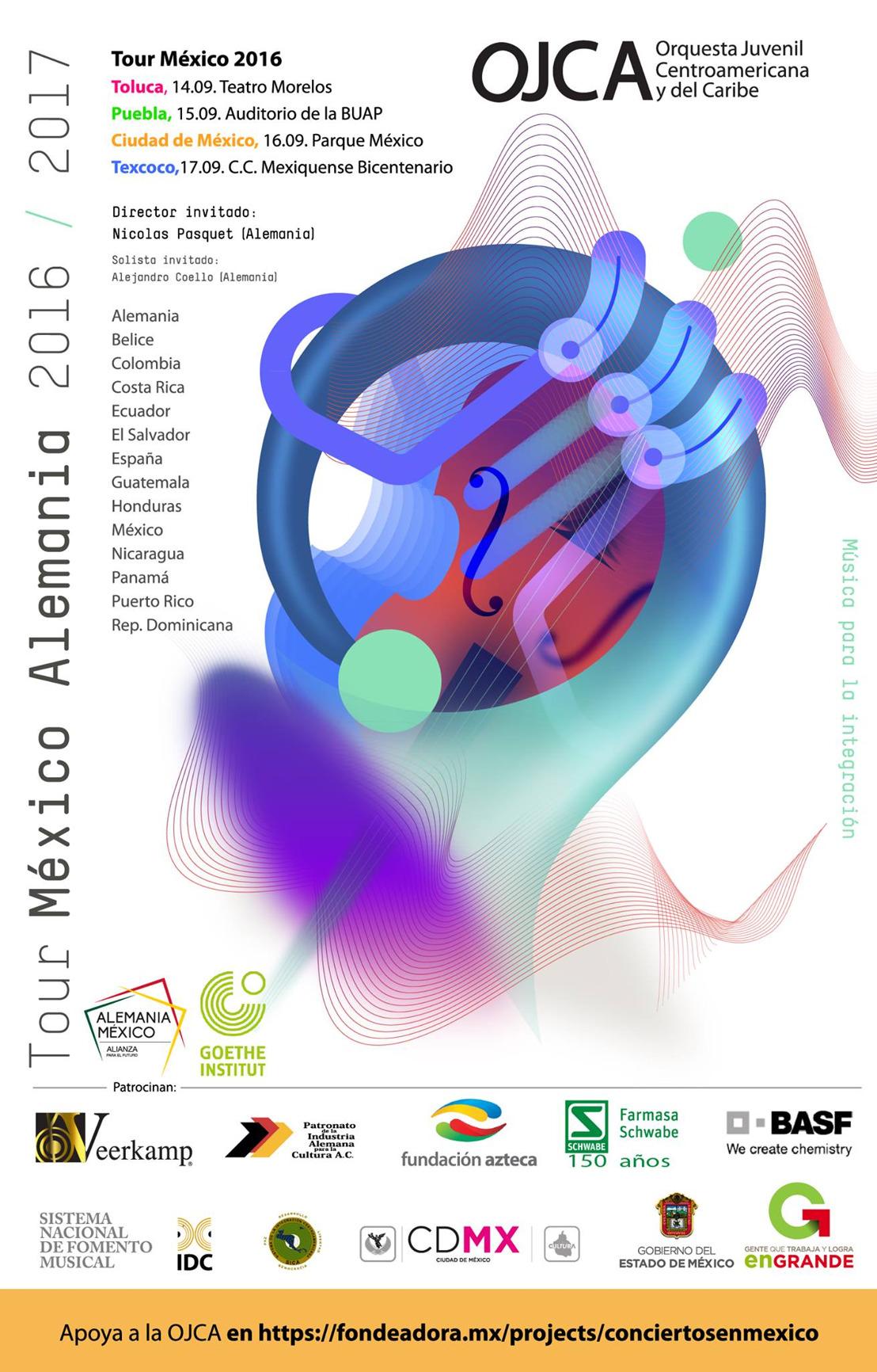 Orquesta Juvenil Centroamericana y del Caribe Tour México Alemania 2016-2017