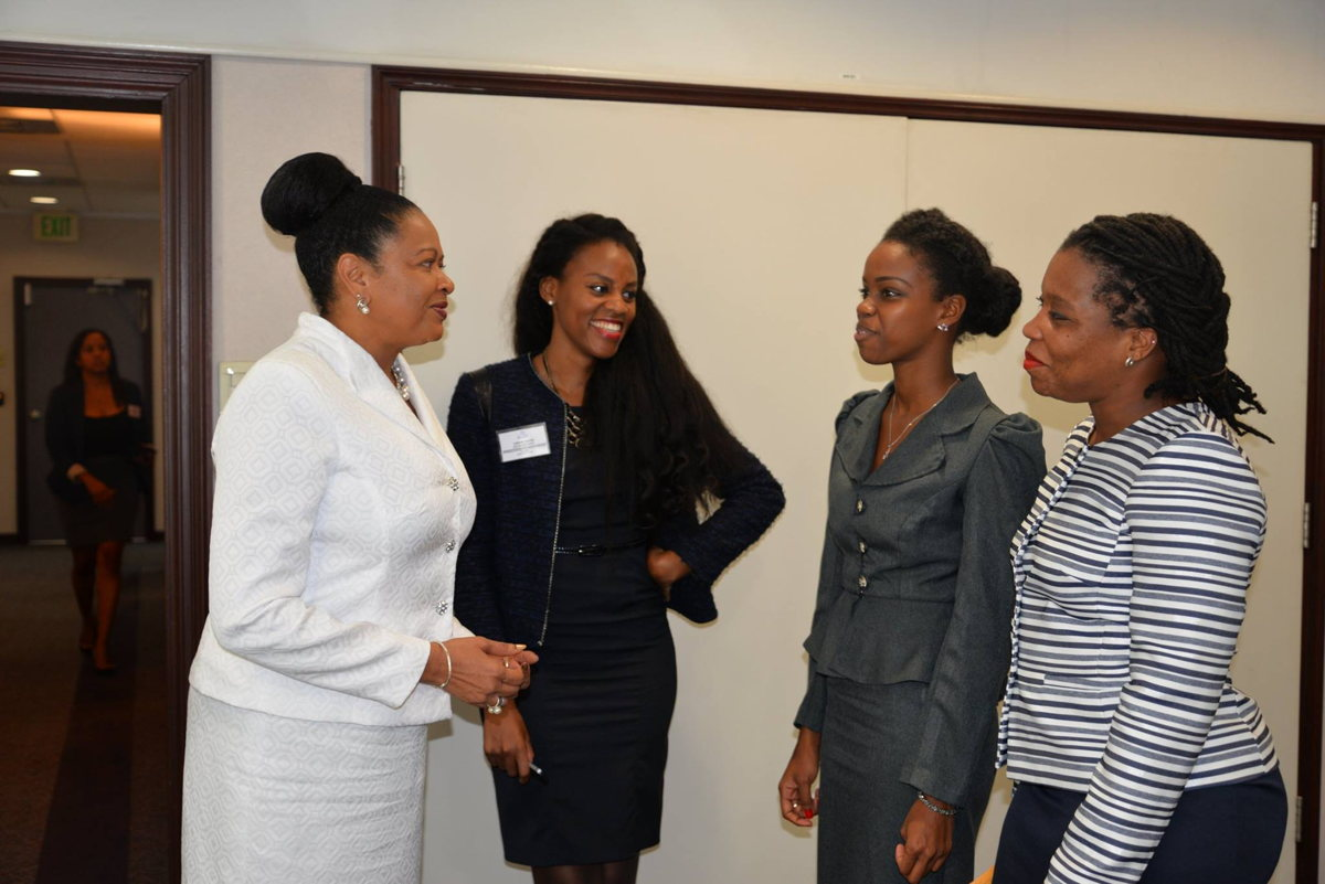 Lorine with colleagues from the Association of Caribbean States (ACS) in Trinidad and Tobago.